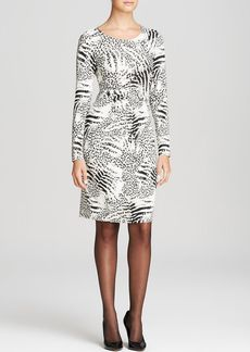 Lafayette 148 New York Mixed Animal Print Dress