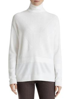 Lafayette 148 New York Mixed Knit Turtleneck Sweater