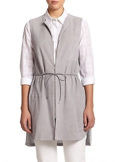 Lafayette 148 New York Mixed-Media Belted Vest