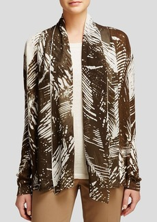 Lafayette 148 New York Mixed Media Shawl Collar Cardigan