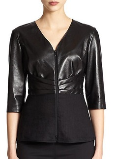 Lafayette 148 New York Mixed-Media Top