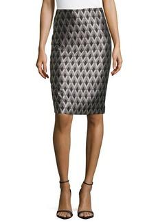 Lafayette 148 New York Modern Slim Diamond Skirt, black/Multi