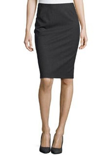 Lafayette 148 New York Modern Slim Skirt, Smoke