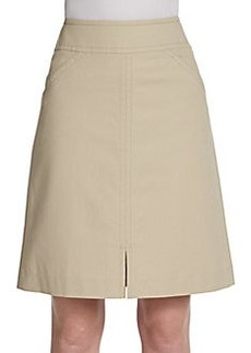 Lafayette 148 New York Ms Lilac A-Line Twill Skirt