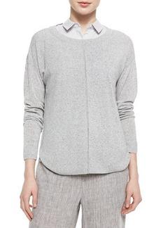 Lafayette 148 New York Multi-Gauge Melange Sweater