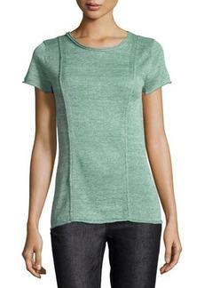 Lafayette 148 New York Multi-Gauge Short-Sleeve Sweater