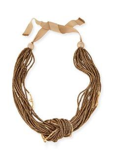 Lafayette 148 New York Multi-Strand Knot Necklace, Gold Multi