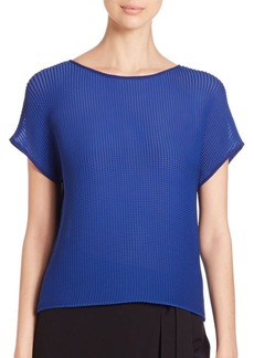 Lafayette 148 New York Nadette Pleated Blouse