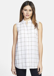 Lafayette 148 New York 'Nadie' Plaid Linen Blouse
