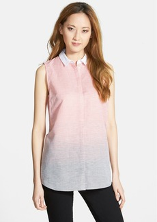 Lafayette 148 New York 'Nadie' Stripe Sleeveless Blouse