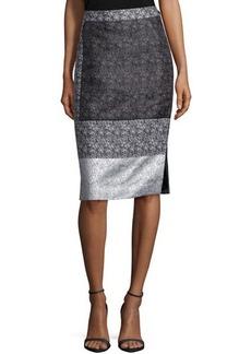 Lafayette 148 New York Nataya Multi-Print Pencil Skirt