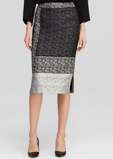 Lafayette 148 New York Nataya Tweed Color Block Skirt