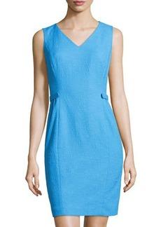 Lafayette 148 New York Naya Crepe V-Neck Knit Dress