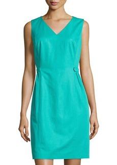 Lafayette 148 New York Naya Tab-Waist Sleeveless Dress