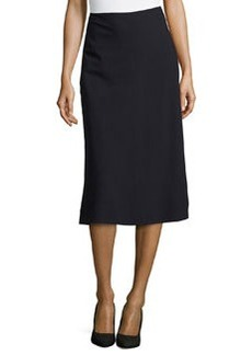 Lafayette 148 New York Nelia A-line Suiting Skirt, Navy
