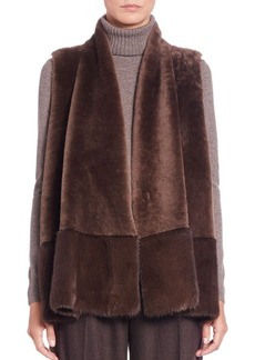 Lafayette 148 New York Nellie Fur & Cashmere Vest