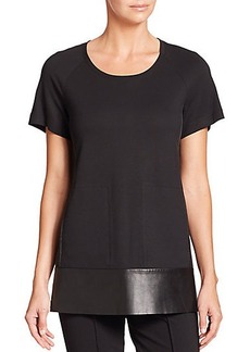 Lafayette 148 New York Neoprene Swing Top