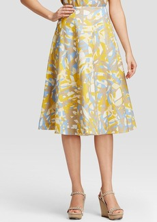Lafayette 148 New York Nevada Graphic Print Midi Skirt