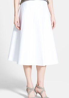 Lafayette 148 New York 'Nevada' Linen Midi Skirt