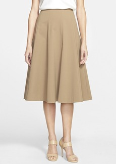 Lafayette 148 New York 'Nevada' Stretch Cotton Blend Skirt