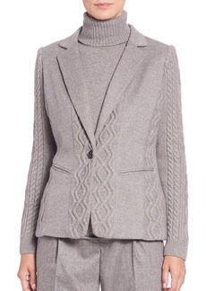 Lafayette 148 New York Noah Cable-Knit Cashmere Jacket