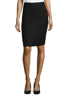 Lafayette 148 New York Nouveau Crepe Twill Revelin Skirt, Black