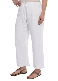 Lafayette 148 New York Nouveau Gauze Crop Pants - Linen (For Women)