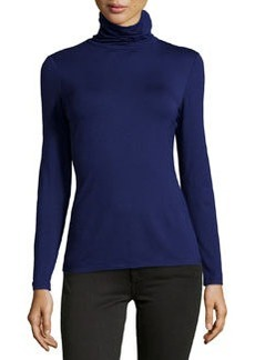 Lafayette 148 New York Nouveau Turtleneck Jersey Sweater, Dusk