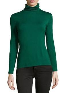 Lafayette 148 New York Nouveau Turtleneck Jersey Sweater, Emerald