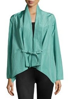 Lafayette 148 New York Oasis Cloth Glenna Topper Jacket, Azure