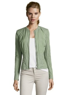Lafayette 148 New York okra cotton blend woven 'Margot' crinkled jacket