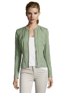 Lafayette 148 New York okra green cotton blend woven crinkle 'Margot' jacket
