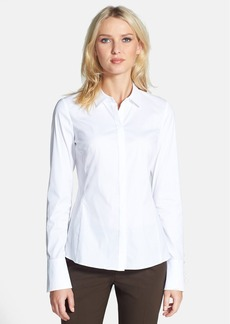 Lafayette 148 New York 'Olina - Excursion Stretch' Fitted Blouse