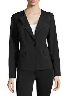 Lafayette 148 New York One-Button Jacket, Black