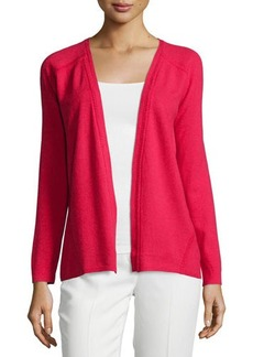 Lafayette 148 New York Open-Front Cardigan W/Hand Seaming, Spark