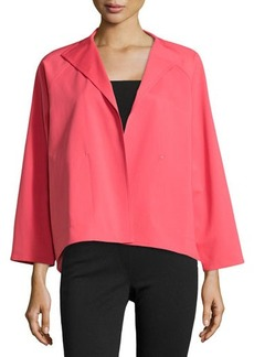 Lafayette 148 New York Open-Front High-Low Topper Jacket