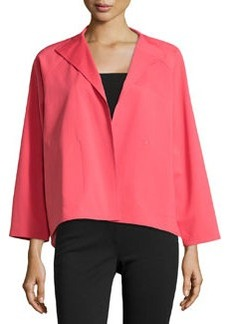 Lafayette 148 New York Open-Front High-Low Topper Jacket, Geranium