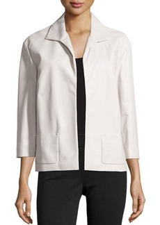 Lafayette 148 New York Open-Front Leather Jacket