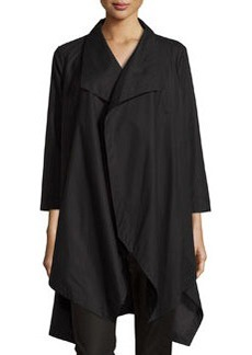 Lafayette 148 New York Open-Front Oversized Cardigan, Black