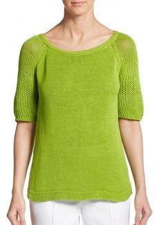 Lafayette 148 New York Open-Weave Sweater