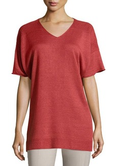 Lafayette 148 New York Oversized Dolman Half-Sleeve Sweater