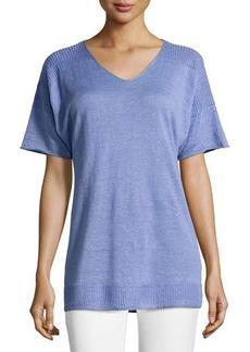 Lafayette 148 New York Oversized Dolman Half-Sleeve Sweater