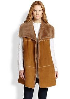 Lafayette 148 New York Oversized Shearling Vest