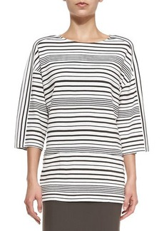 Lafayette 148 New York Oversized Striped Ponte Top  Oversized Striped Ponte Top