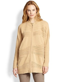 Lafayette 148 New York Oversized Zip-Front Cardigan