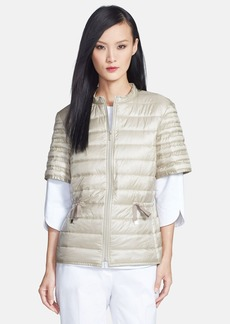 Lafayette 148 New York Packable Short Sleeve Quilted Jacket