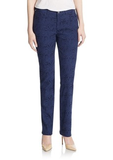 Lafayette 148 New York Palm-Jacquard Stretch Jeans
