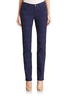 Lafayette 148 New York Palm-Jacquard Stretch Jeans