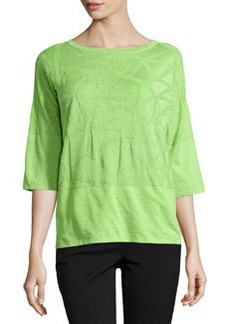 Lafayette 148 New York Palm Tree Knit Sweater, Sprig