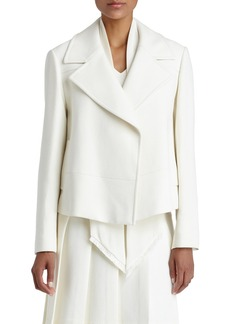 Lafayette 148 New York 'Pam' Double Breasted Crepe Topper